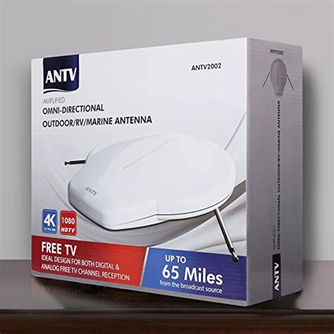 digital lified hdtv antenna with 360 degree omni directional reception 65 outdoor rv