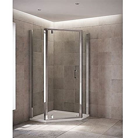 Pentangle Shower by Mira Leap Pentagonal Shower Enclosure With Either Pivot Or