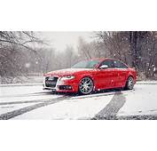 Red Audi S4 Snow Winter  HD Wallpaper Download