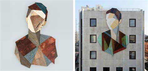 geometric design criteria for urban streets street artist constructs gigantic geometric portraits with