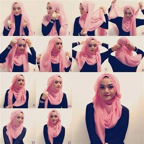 tutorial jilbab segi empat wajah bulat tutorial jilbab segi empat untuk wajah bulat simple praktis