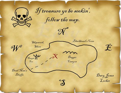 printable maps directions invitations printable pirate treasure map best photos of template
