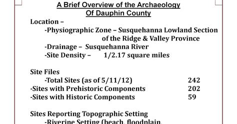 dauphin county section 8 this week in pennsylvania archaeology dauphin county