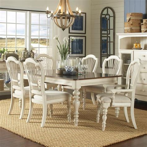 Pine Living Room Furniture Sets Hillsdale Furniture 5265dtbrcw7 Pine Island 7 Pc Dining Set With Whe