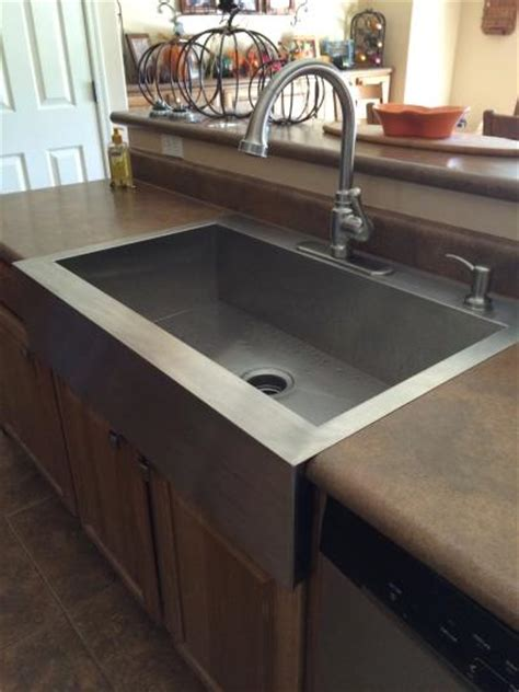 kohler top mount farm sink kohler vault drop in farmhouse apron front stainless steel
