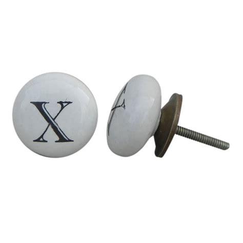 Alphabet Drawer Knobs by Set Of 6 X Alphabet Letter White Black Dresser Knobs By