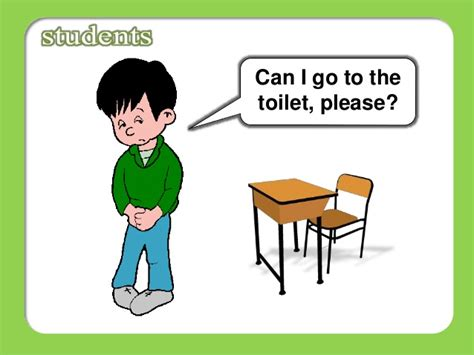 can go to the bathroom classroom language