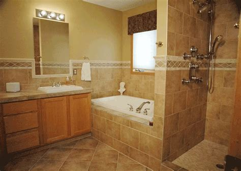 brown tile small bathroom bathroom design ideas