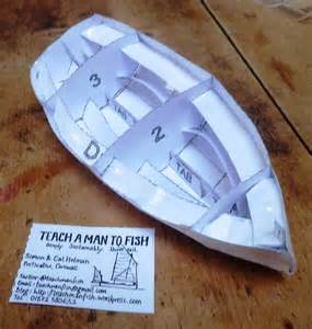How To Make Ship Models In Paper - how to make a paper boat teach a to fish
