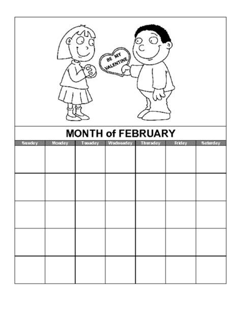 printable calendar education world february calendar template education world