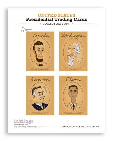 president trading cards template 131 best images about inklings things on
