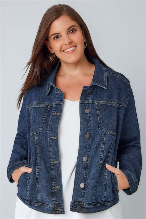 Idw079 Blue Size 16 5 blue denim jacket plus size 16 to 32