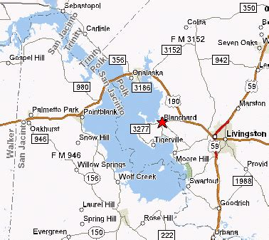 map of lake livingston texas lake livingston
