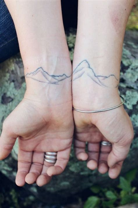 simple couple tattoos simple mountains best ideas