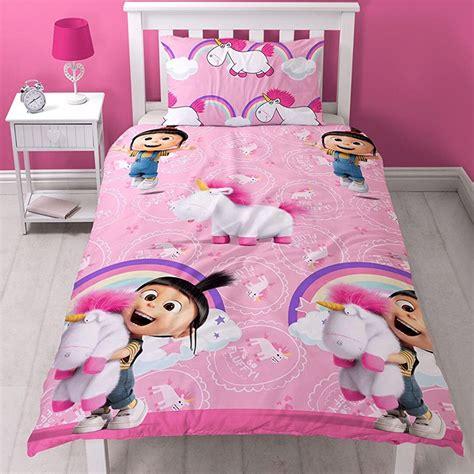 If Agnes Set despicable me daydream fluffy unicorn agnes single duvet cover set reversible ebay