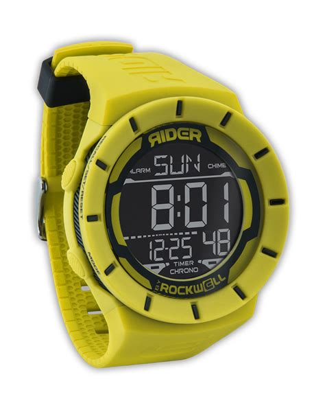 coliseum yellow black rockwell watches