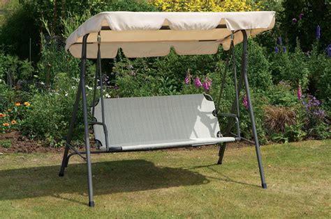 Uk G Cream Garden Swing Seat Hammock Metal Frame
