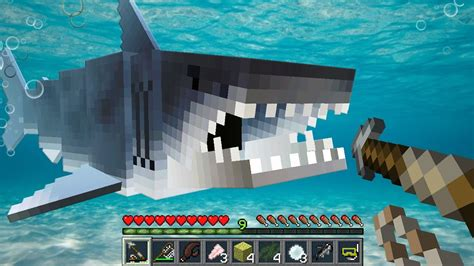 minecraft jaws shark mod great white sharks tiger