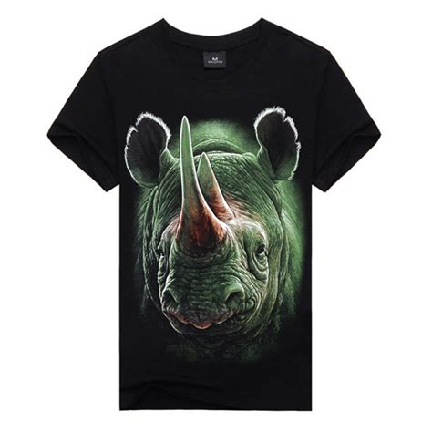soft cotton mens shirts 3d animal print top summer sleeve t shirts s83 ebay