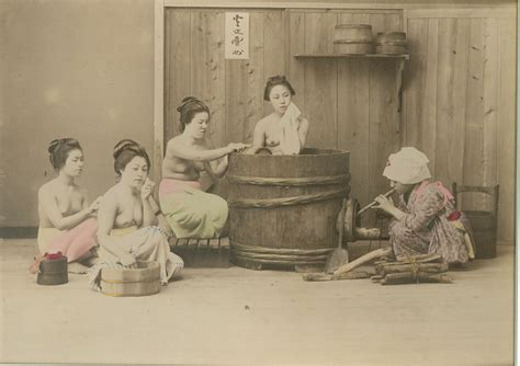 japanese bath houses japanese bath house c1880 19th century original photographs