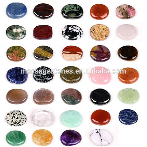 pocket stones semi precious flat polished pocket stones
