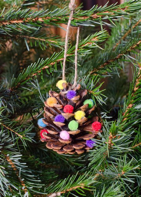 Handmade Pom Pom Decorations - decorations pom pom pine cones