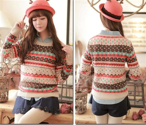 Sweater What Is Your Baju Wanita sweater korea fair isle korean sweater d6039 fa5ac coat korea