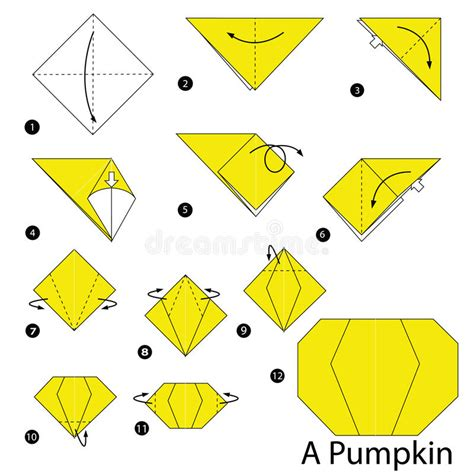 printable origami pumpkin instructions step by step instructions how to make origami a pumpkin