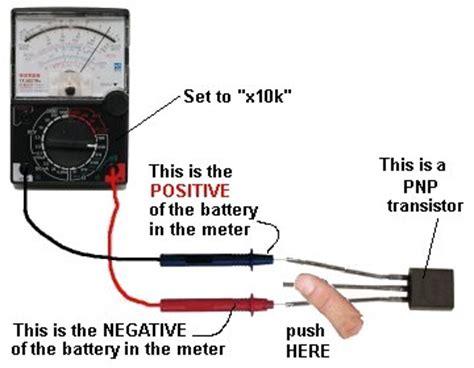 test npn transistor using digital multimeter testing electronic components