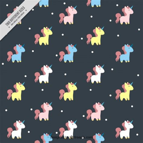 Cute Houses by Loving Colored Unicorn Pattern Vector Free Download