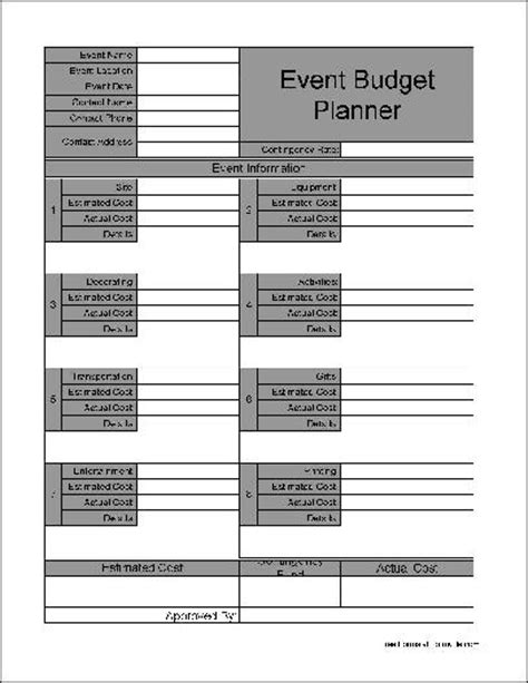 Event Planner Template Free Download Planner Template Free Event Planner Quote Template