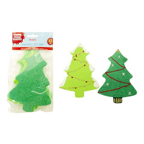 foam christmas trees 12 pack