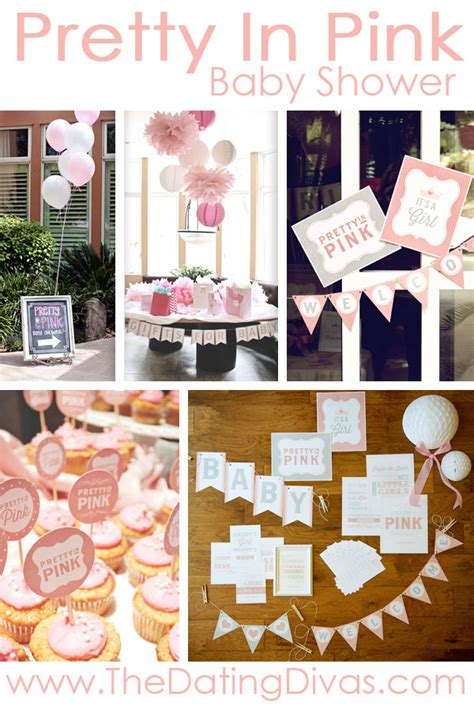 Pretty Baby Shower Themes by Pretty In Pink Baby Shower Theme Printables
