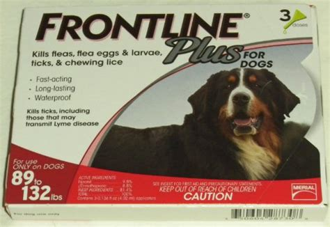 frontline plus for dogs reviews frontline plus for dogs 89 to 132lbs 3 pack dogs helper