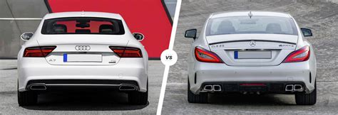 difference between audi a7 and s7 audi a7 vs mercedes cls comparison carwow