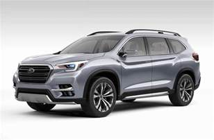 Future Subaru Subaru Ascent Concept Previews 7 Seater For America
