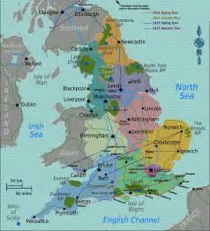 England On A Map by Basil Rathbone Master Of Stage And Screen Map Of England