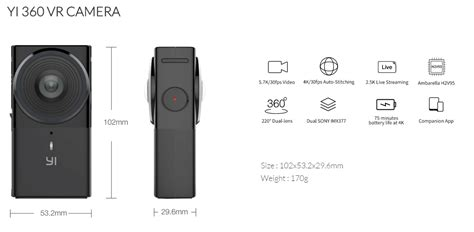 Bcare 360 Wifi yi 360 vr 360 yi technology kameraaksi