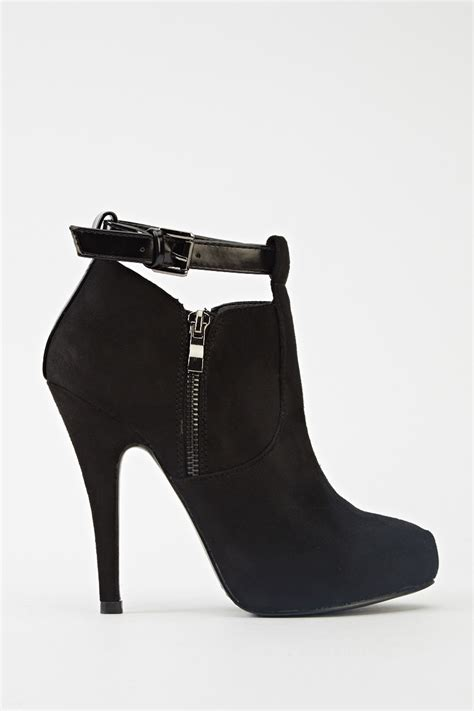 cut out buckle heeled ankle boots just 163 5