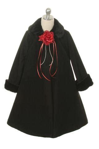 girls swing coat girls swing coat black grandma s little darlings