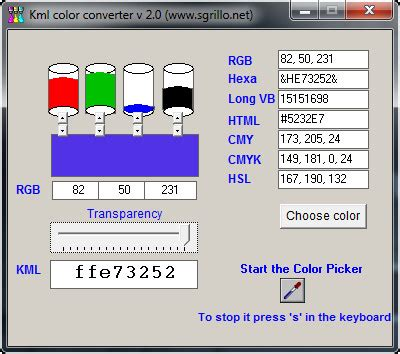 how to convert rgb to cmyk with kml color converter