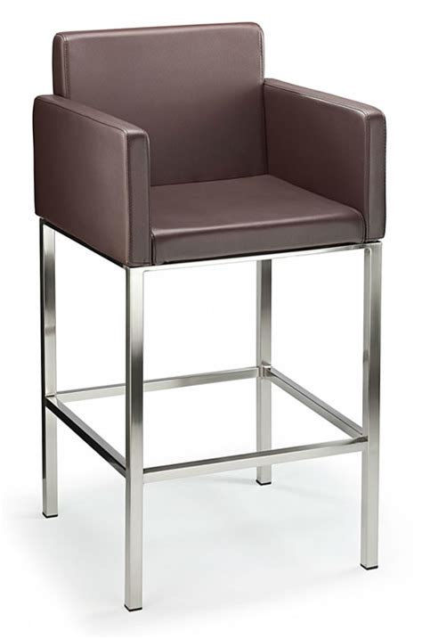 Fixed Height Bar Stools by Brushed Stainless Steel Chrome Satin Kitchen Breakfast Bar