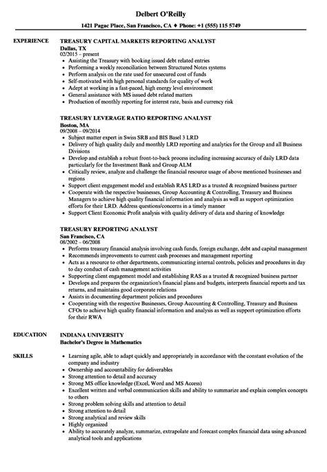 sle cv for optometrist treasury accountant sle resume sle email resignation