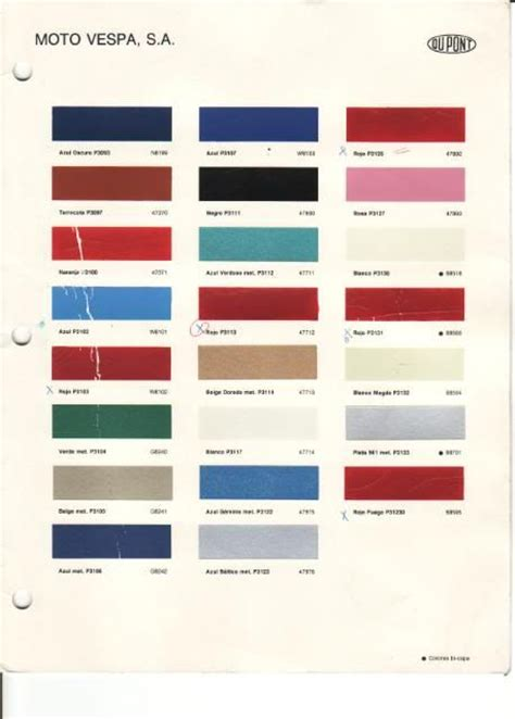 vespa paint color the knownledge