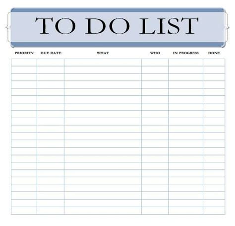 To Do List Templates Find Word Templates To Buy List Template