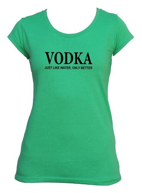 Hoodie Vodka Sweater Vodka Bad Vodka vodka just like water t shirt singlet s s slogan size top ebay