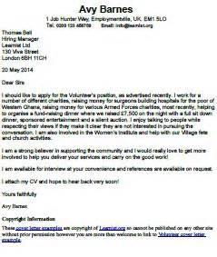 Covering Letter Charity Job Sample motivation letter charity job sample volunteer covering letter example