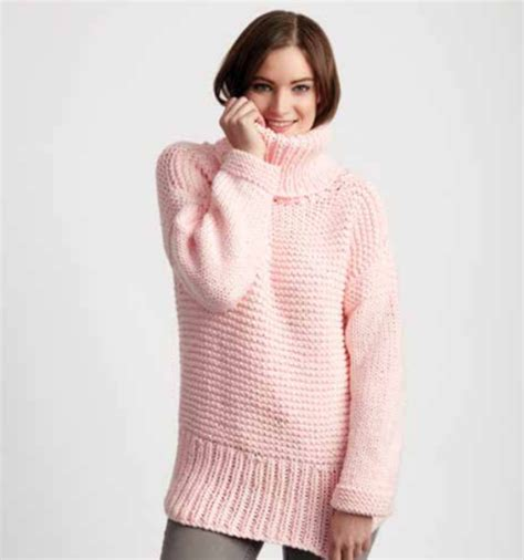 chunky jumper knitting pattern chunky turtleneck easy sweater pattern allfreeknitting
