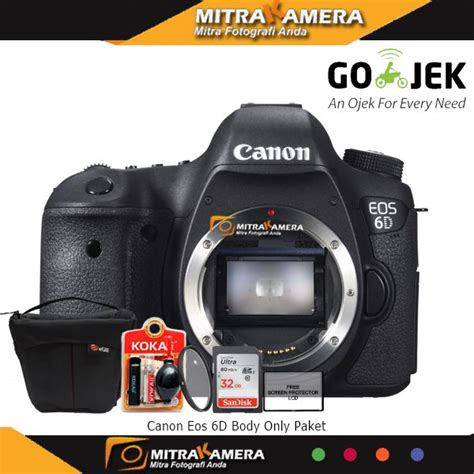 Kamera Canon 6d Only 1 jual canon eos 6d only paket baru kamera digital