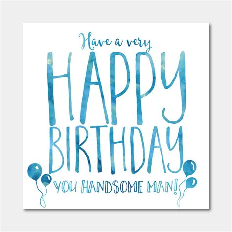 handsome man birthday card by ivorymint stationery